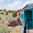Stock Photo: Vintage Rail Car Caboose South of SantFe, New Mexico
