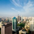 Shanghai, China Skyline, Blue Sky Haze Pollution - Stock Photo