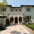 Old Mediterranean Stucco Home in Shanghai, China - Stock Photo