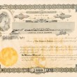 Old Stock Certificate Ohio USA Woman Star Vignette — Stock Photo
