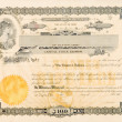 Old Stock Certificate Ohio USA Woman Star Vignette - Stock Photo