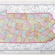 Antique Map Pennsylvania PA United States USA — Stock Photo #7895517