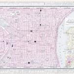 Mapa ulica miasta Filadelfia, Pensylwania, USA — Zdjęcie stockowe