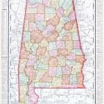 Antyczna mapa alabama, al, Stany Zjednoczone, Stany Zjednoczone Ameryki — Zdjęcie stockowe