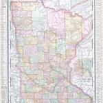 kolor antyczny mapa USA mn minnesota, Stany Zjednoczone Ameryki — Zdjęcie stockowe