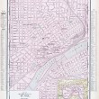 Antique Street City Map St. Paul, Minnesota, USA — Stock Photo
