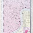 Detailed Antique Street Map New Orleans Louisiana — Stock fotografie