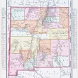 Antique Vintage Color Map of New Mexico, USA — Stock Photo