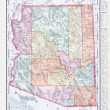 Antique Vintage Color Map of Arizona, USA — Stock Photo #7895584