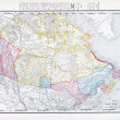 Antique Vintage Color Map of Canada - Photo