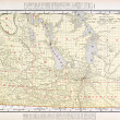 Antique Vintage Color Map of Manitoba, Canada — 图库照片