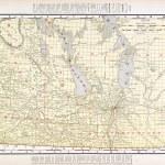 Antique Vintage Color Map of Manitoba, Canada — Stock Photo