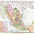 Antique Vintage Color English Map of Mexico — Stock Photo #7895634