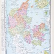 Antique Color English Map of Denmark and Iceland — Stock Photo #7895635