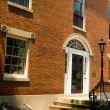 Red Brick Federal Adamsesque Home Washington DC - Stock Photo