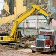Front End Loader Dropping Demolition Materials — Stock Photo #7895710