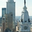 Stock Photo: William Penn Statue City Hall Philadelphia PA