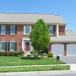 Stock Photo: Brick Faced Single Family Home, SuburbMaryland