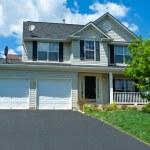 Vinyl Siding Single Family House Home Suburban MD — Stock Photo #7895796