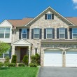 Front Brick Faced Single Family House Suburban MD — Stock Photo