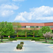 New Brick Office Building Trees Suburban MD USA - Stock Photo