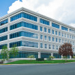 Stock Photo: Modern Cube Shaped Office Building Parking Lot MD