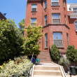 Richardsonian Brick Row Home Washington DC USA — Stock Photo