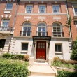 Tidy Adams Colonial Style Row House Washington DC — Stock Photo