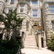 Richardsonian Romanesque Stone Row Home Washington - Stock Photo