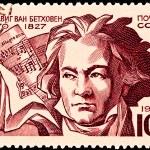 Постер, плакат: Ludwig Von Beethoven Score Allegro Assai
