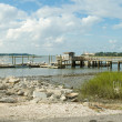 Pier Dock into Back Bay, Low Tide, Hilton Head Island — Stock Photo