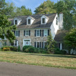 Tradition Center Hall Colonial Single Family Home Suburban Phila — Stock Photo