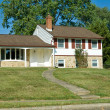1960s Split Level Home Suburban Philadelphia - Stock Photo