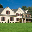 New Colonial Style House Suburban Philadelphia - Stock Photo