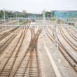 Railroad Train Yard and Tracks Geneva Switzerland — Stock Photo