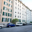 Stock Photo: Row of Apartment Buildings, Street Scene Geneva Switzerland