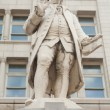 Statue Ben Franklin Old Post Office Building Washington DC - Stock Photo