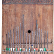 Home Made Wooden Kalimba, African Thumb Piano Isolated Backgroun — Stock Photo