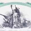Engraving Statue of Liberty Stock Certificate Vignette — Stock Photo