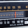 Tuning Display Part of Vintage Radio — Stock Photo