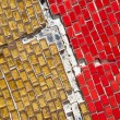 XXXL Cracked Broken Full Frame Yellow Red Glass Tiles - Stock fotografie