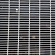 XXXL Full Frame Dirty Silver Metal Grate - Stock Photo