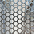 Full Frame Shiny Silver Metal Mesh Grid With Holes — Stock Photo #7896705