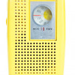 Stock Photo: Vintage Yellow Plastic Transistor Radio Isolated White Backgroun