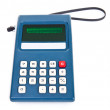 1970's Vintage Plug-in Calculator with Strap Handle Isolated on — Stock Photo
