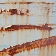 XXXL Full Frame Peeling Paint Rust Stains on Gray Metal Surface — Stock Photo