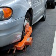 XL Car Boot on Tire, Failed to Pay Parking Ticket - Foto de Stock