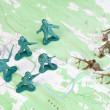Stock Photo: Plastic Army Men Fighting on Topographic Map General's View