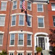 Georgian Brick Townhouse Row House Washington DC — Stockfoto