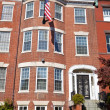 Georgian Brick Townhouse Row House Washington DC — Stok fotoğraf
